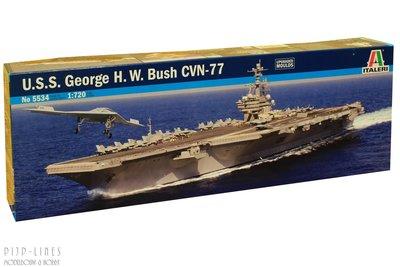 Italeri 5534 U.S.S. George H.W. Bush CVN-77 1:720