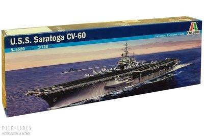 Italeri 5520 U.S.S. Saratoga CV-60 1:720