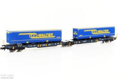 """Fleischmann 825001 Wascosa T2000 dubbele draagwagen """"LKW Walter"""""""