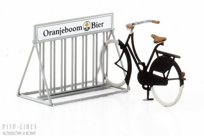 """Artitec 387.272 Fietsrek met fiets """"Oranjeboom Bier"""""""