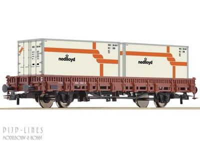 Roco 76962 NS rongenwagen beladen met twee Nedloyd containers