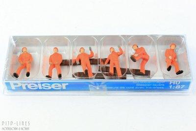 Preiser 14036 Spoorweg arbeiders 1:87 H0
