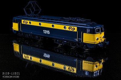 Artitec REE Models 20.374.01 NS E-lok 1315 Geel/grijs. DC Analoog 1:87 H0