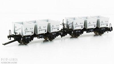 Fleischmann 823303 DB set van twee wagens met Van huis tot huis containers