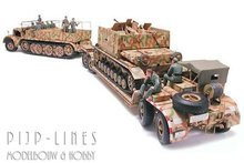 Tamiya 35246 German 18 Ton Heavy Half-Track 'FAMO' And Tank Transporter Sd.Ah.116 1:35