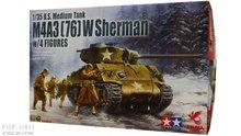 Asuka 35048 U.S. M4A3 (76) W Sherman + figuren