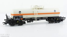 DB Ketelwagen voor chloortransport. Wagon type: - Wagon nummer: 33 80 781 2 523-8 Tijdperk: 4 Schaal: 1:87 H0  Modelspoor occas