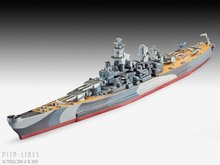 Revell 05128 USS Missouri 1:1200