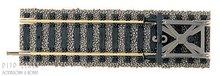 Fleischmann 6116 stootblok met rails 105mm 1:87 H0
