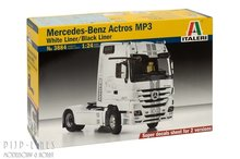 Italeri-3884-Mercedes-Benz-Actros-MP3-White/Black-Liner-1:24