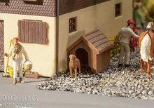 Faller-180939-Hondenhok-met-Hond-1:87