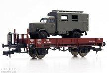 Fleischmann 525301 DB Platte wagon met post auto 1:87 H0