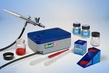 "Revel 39199 Airbrush Basic Set met Compressor ""Begginers topper"