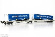 "Roco 76420 DB AAE dubbele containerdraagwagon ""P&O Ferrymaster"" Type T2000 1:87 H0"