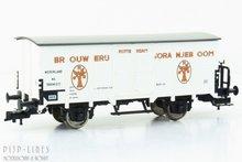 """NS Bierwagen """"Brouwerij Oranjeboom"""". Wagon type: --- Wagon nummers: 560413 Tijdperk: 3 Lengte over de buffers: 11"""