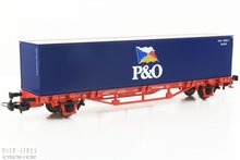 "Piko 57706 DB containerdraagwagen ""P&O"""
