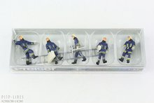 Preiser 10484 Brandweer komt aan bij de brandhaard