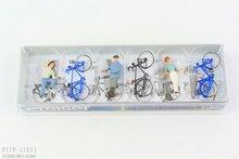 Preiser 10515 Staande fietsers bij de overweg