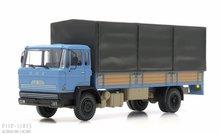 Artitec 487.051.01 DAF kantelcabine open bak met huif blauw Anno 1970