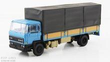 Artitec 487.052.01 DAF kantelcabine open bak met huif blauw Anno 1982