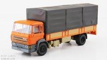 Artitec 487.053.01 DAF kantelcabine open bak met huif oranje Anno 1987