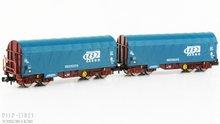 Fleischmann 837929 SNCB Cargo huifwagen set type Shimmns