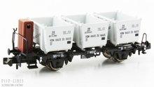 """Fleischmann 823702 DB wagon met """"Van huis tot huis"""" containers"""